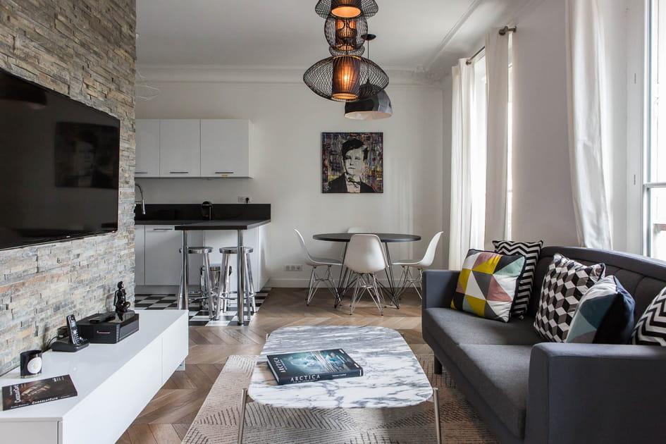 Style contemporain dans un appartement haussmannien