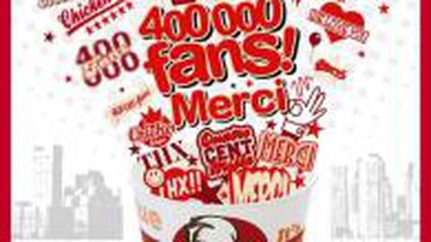 La page facebook de KFC atteint des sommets