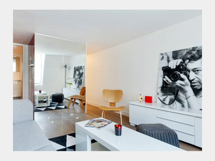 quelques astuces pour donner du cachet au s jour un studio d 39 tudiant malin et fonctionnel. Black Bedroom Furniture Sets. Home Design Ideas