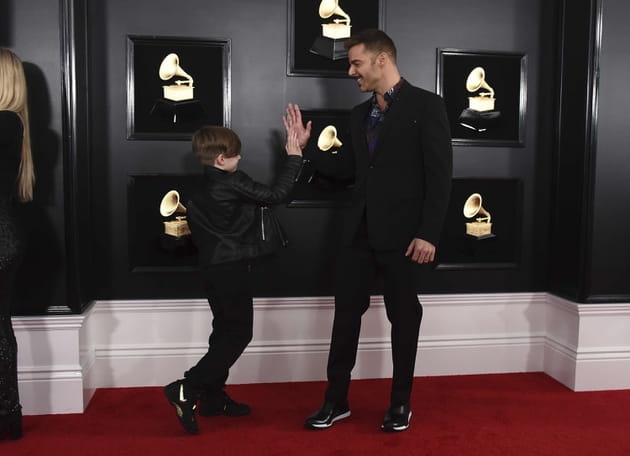 Ricky Martin et son fils Matteo aux Grammy Awards
