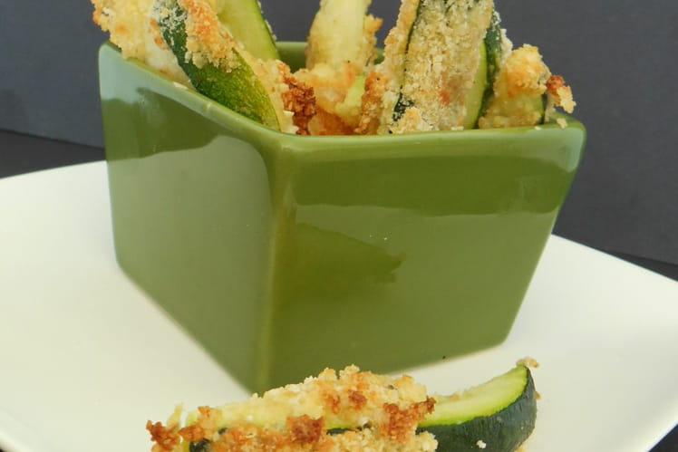 Frites de courgettes et parmesan au four