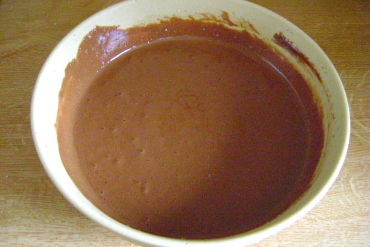 Mousse au chocolat et au sucre glace