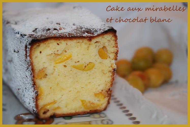Cake aux mirabelles et chocolat blanc