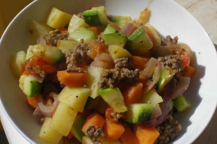 Boeuf épicé aux petits légumes