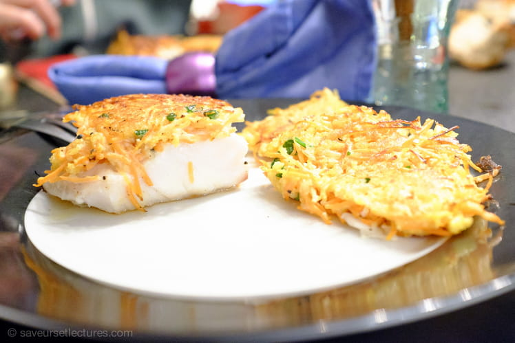 Filets de poisson en croûte de carottes