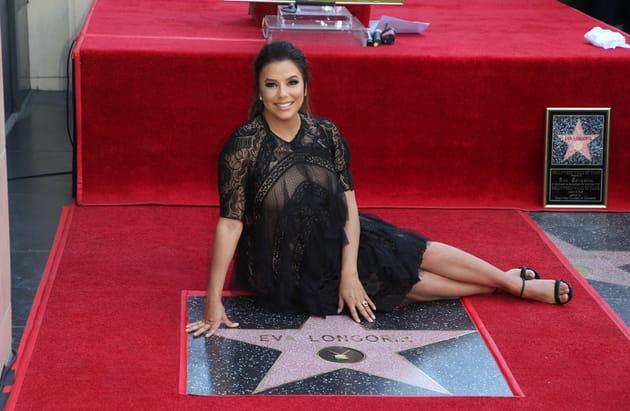 Eva Longoria, star parmi les étoiles du Walk of Fame