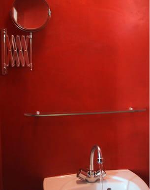 enduit en b ton color rouge de mercadier. Black Bedroom Furniture Sets. Home Design Ideas