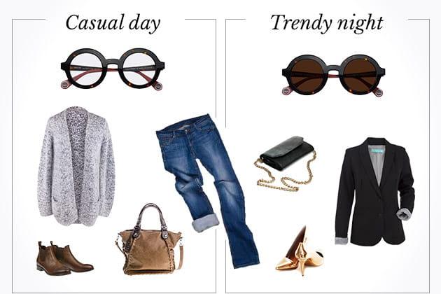 Casual day VS trendy night