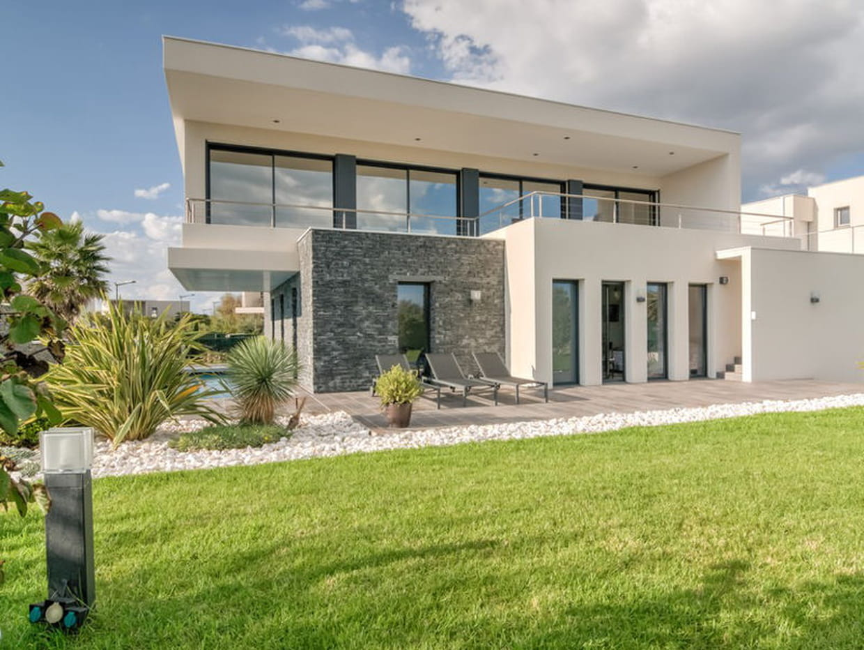 facade maison moderne pierre vg05 jornalagora. Black Bedroom Furniture Sets. Home Design Ideas