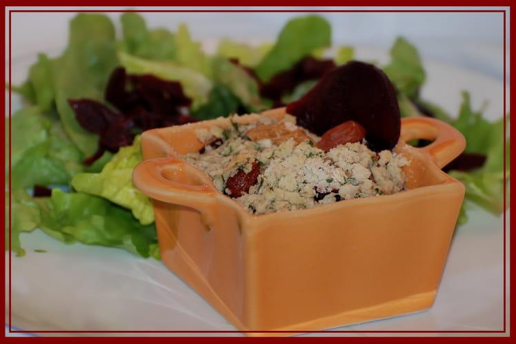 Recette de crumble de betteraves rouges au roquefort la recette facile - Cuisiner des betteraves rouges ...