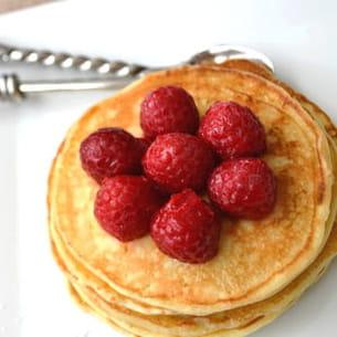 pancakes mascarpone, lait de coco & noix de coco