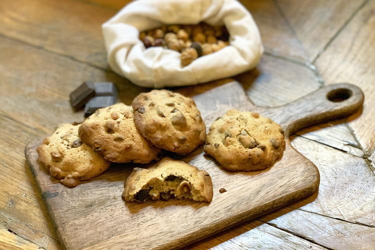 Cookies choco-noisettes hypertendres