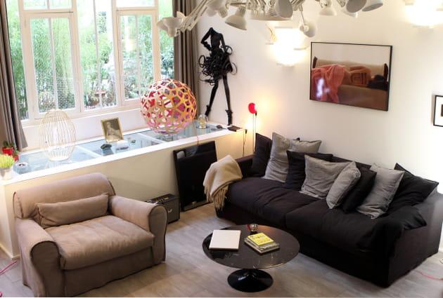 Un salon lumineux et design