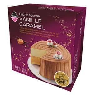 bûche souche vanille caramel élaborée par jean-pierre coffe