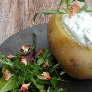 pommes de terre farcies à la lyonnaise