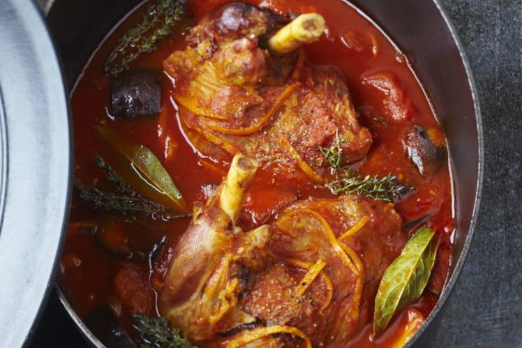 Souris d'agneau mijotées à la tomate