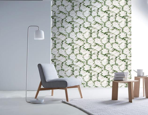 papier peint jeux de lierre par christophe koziel pour 4 murs. Black Bedroom Furniture Sets. Home Design Ideas