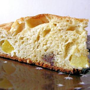 gâteau au yaourt, pêches et toblerone (léger)