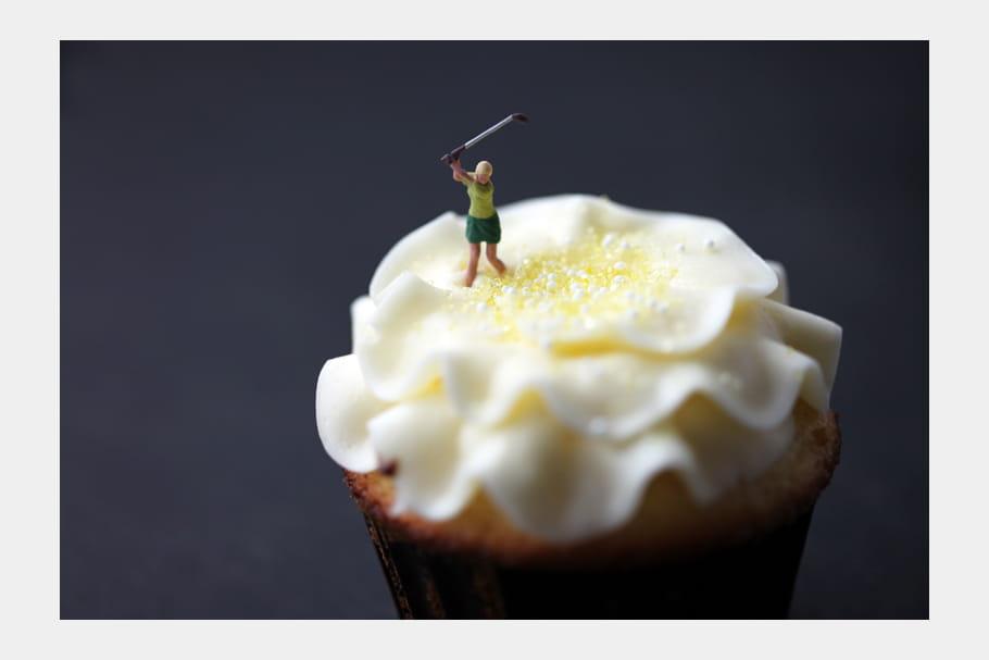 Swing sur un cupcake