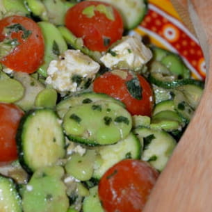 salade fèves-courgettes