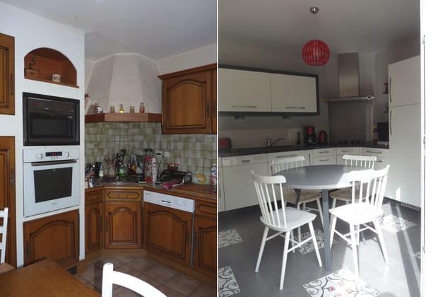 La cuisine : avant-après