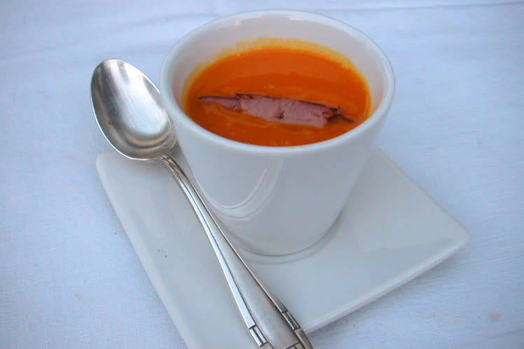 Velouté de potimarron au bacon