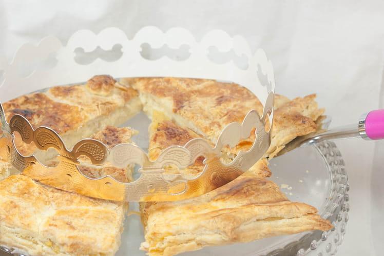 Galette des rois aux pommes, confiture et crème pâtissière