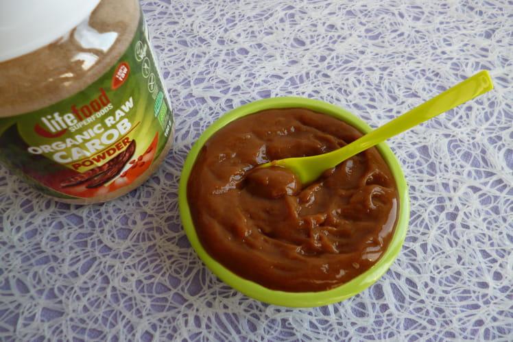 Crème dessert à la caroube crue et au konjac à 35 kcal