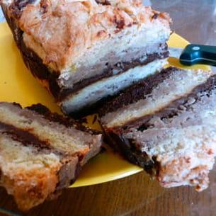 marbré d'automne choco-marrons-amandes