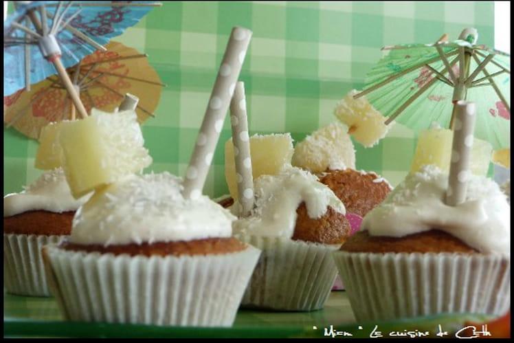 Muffins à la Piña colada