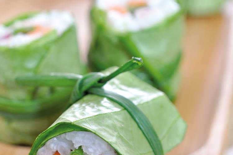 Makis de laitue aux légumes croquants