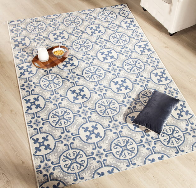 Un tapis carreaux de ciment - Tapis pvc carreaux de ciment ...