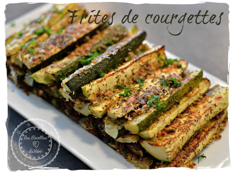 Recette de frites de courgettes la recette facile - Cuisiner des aubergines au four ...