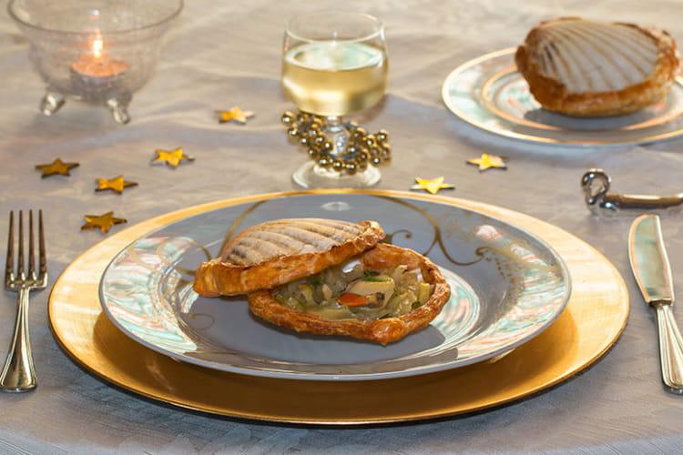 Noix de St-Jacques en coquilles lutées au fenouil