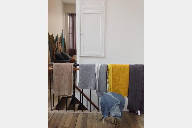Dessus de lit en lin lavé par Le Monde Sauvage