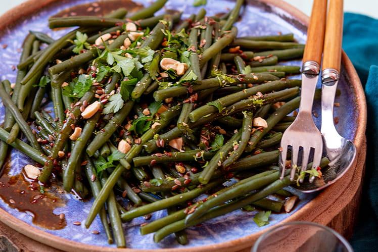 Salade de haricots verts à l'asiatique