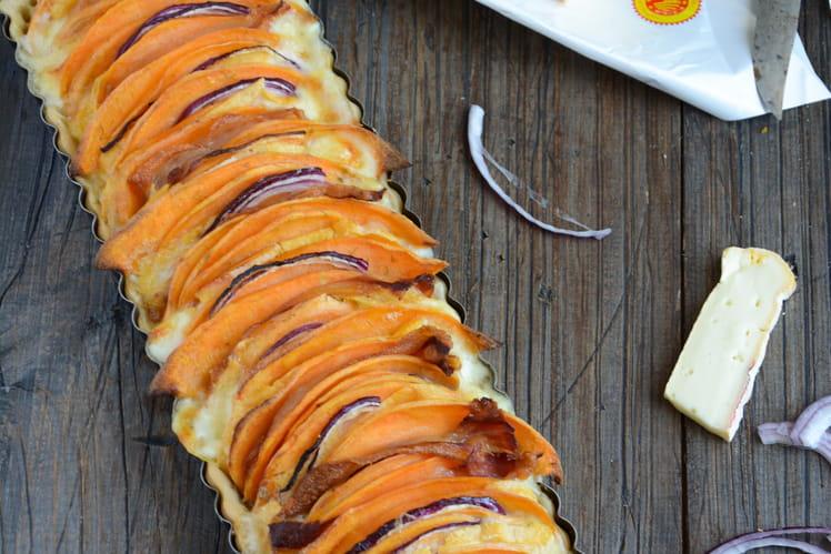 Tarte au Reblochon de Savoie et patate douce