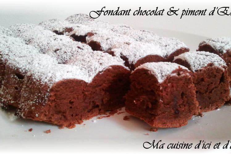 Recette De Fondant Au Chocolat Et Piment D Espelette La Recette Facile