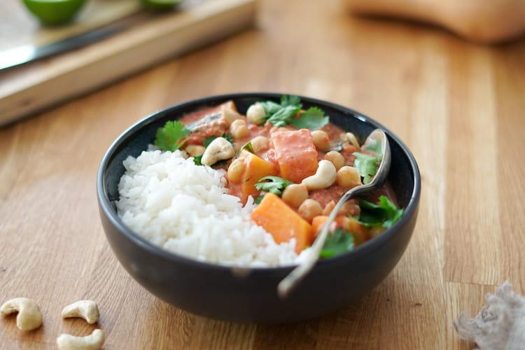 Curry de courge aux pois chiches