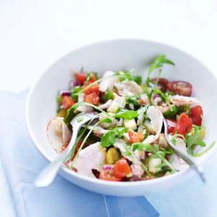 salade chiffonnades de filet de poulet rôti
