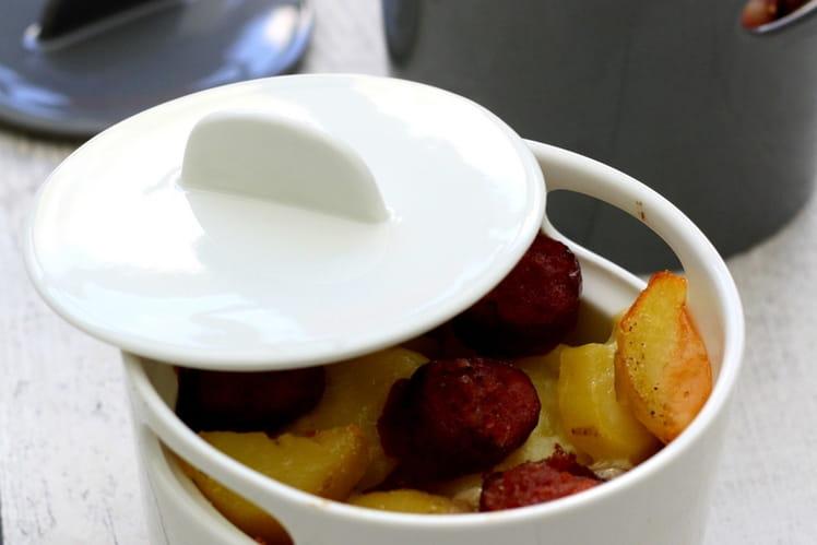 Gratin de pommes de terre façon raclette