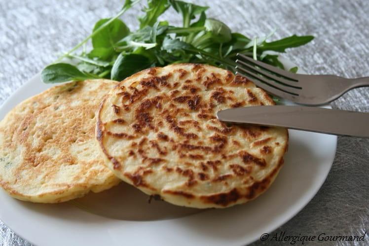 Pancakes Salés, Bio sans oeufs, blé (gluten)