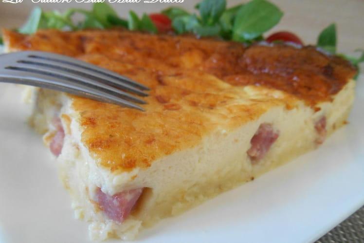 Quiche sans pâte jambon et fromage