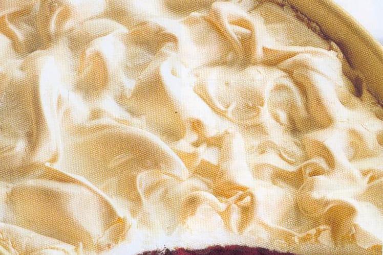Gâteau chocolat/cerise meringué
