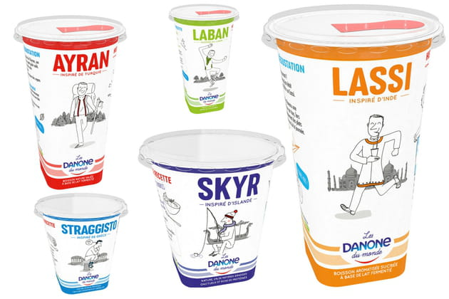 Les yaourts de Danone du monde