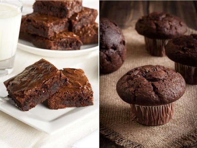 Brownie ou muffin au chocolat ?