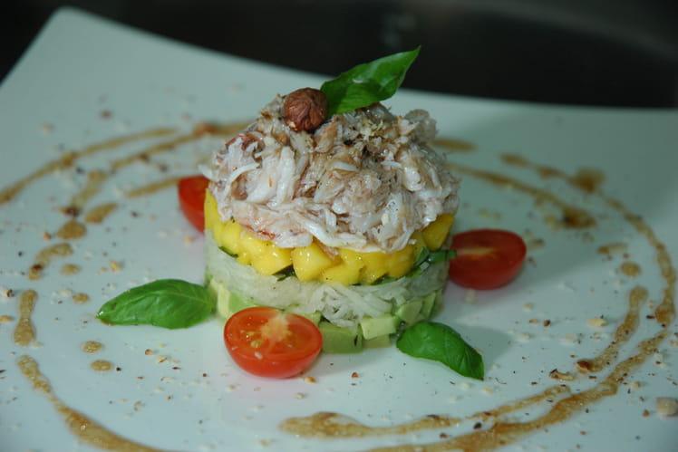 Crabe en salade d'Asie