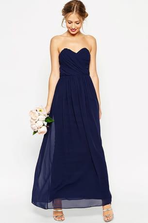 Maxi robe bleu nuit de asos wedding for Robe maxi mariage asos
