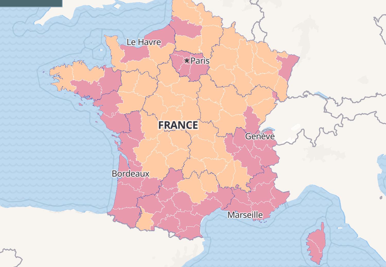 CARTE COVID: en juillet, incidence, France, Europe, Monde