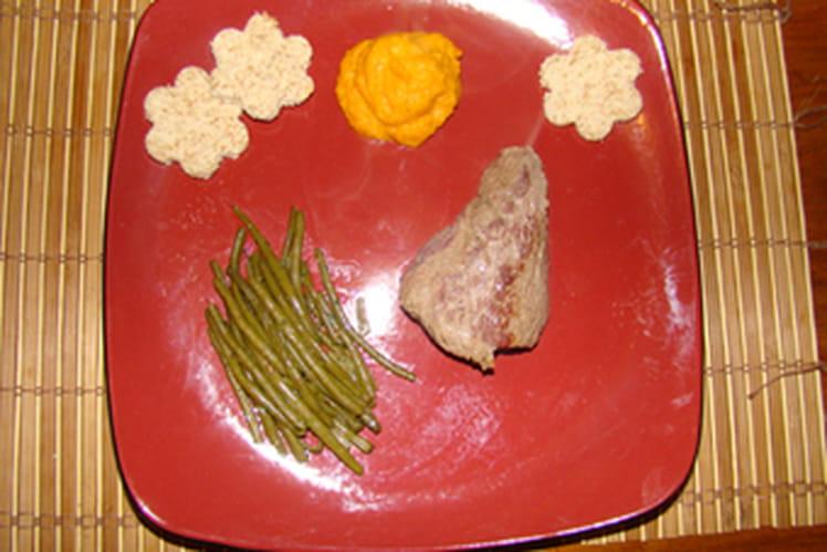 Pavé d'autruche aux légumes